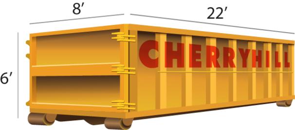 30 Yard dumpster rental - Cherry Hill Construction Inc.