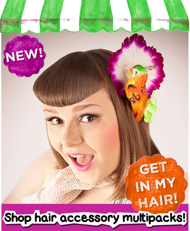 Get a 10% discount by getting your hair accessories in multipacks