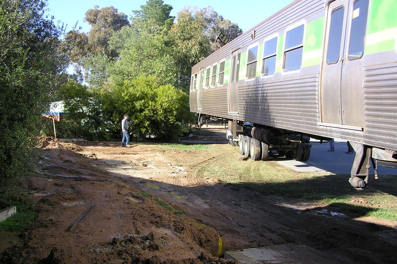 Train carriage arrived in 2006
