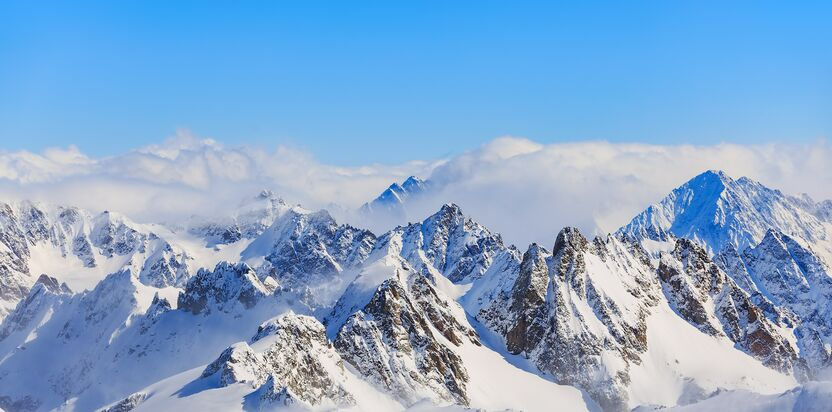 mountain ranges covered in snow 714258