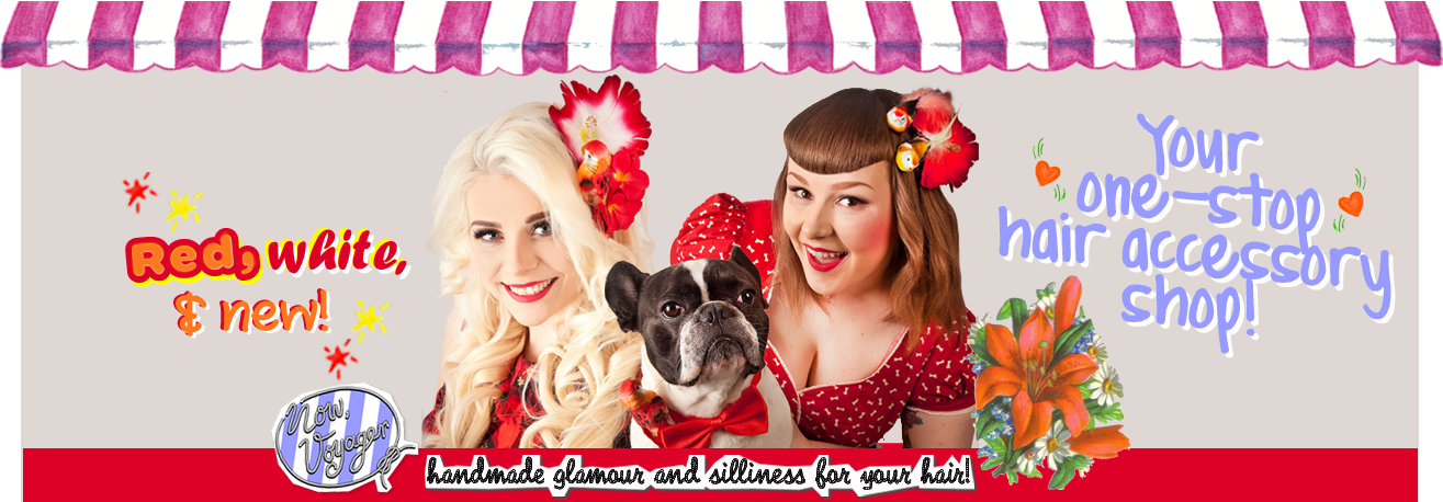 Your one stop hair accessory shop! Handmade Glamour and Silliness for your Hair!!