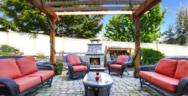 Garden fire pits and furnaces create a focal point for outdoors entertaining