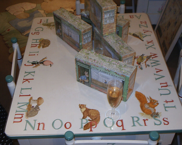 Child's wildlife hand [painted table ABC