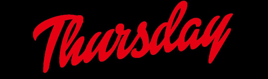 Thursday Logo Design PNG