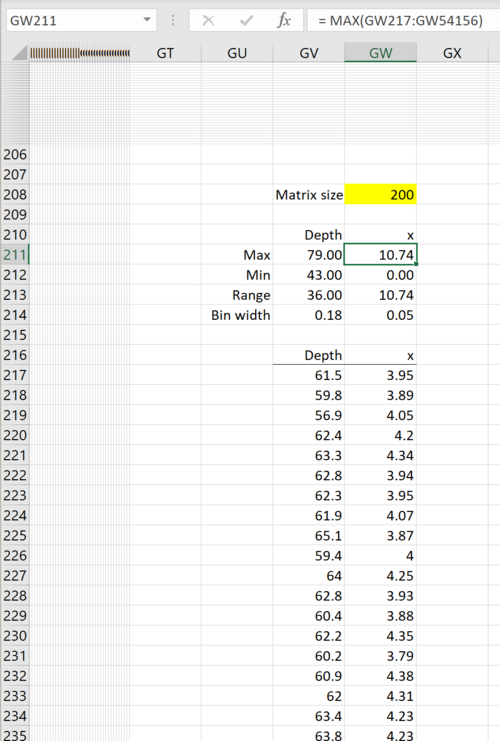 How to create a density scatterplot in Excel 9