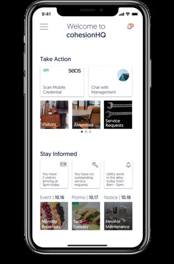 cohesion intelligent building platform mobile interface