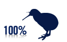 100% pure kiwi logo