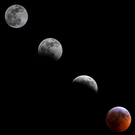 Supermoon Lunar Eclipse 2019 Collage FINAL
