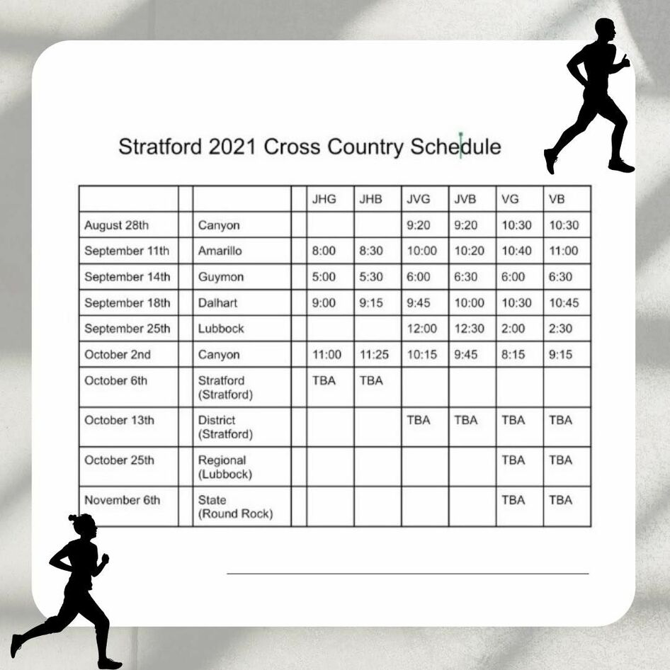 X Country Schedule