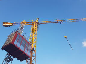 tower crane with an industrial elevator in Lebanon