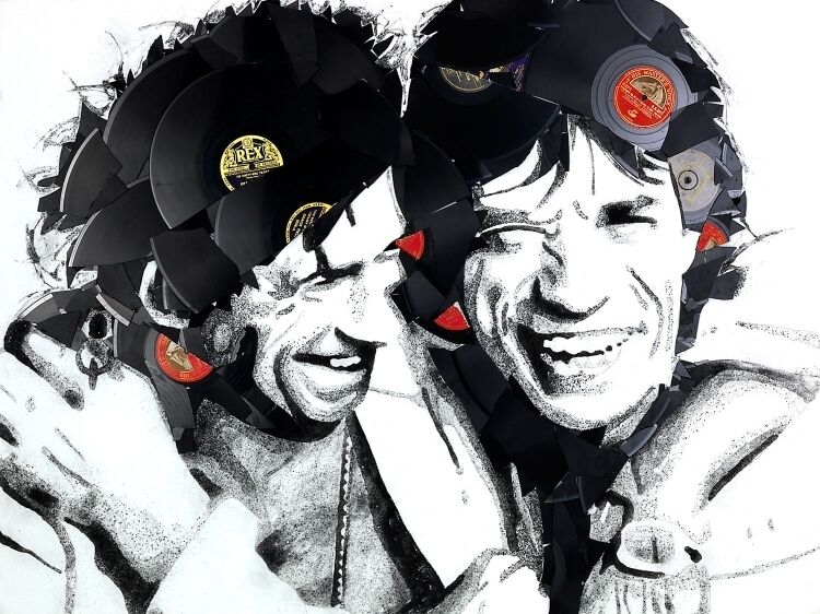 mick and keith ben riley limited edition art ml
