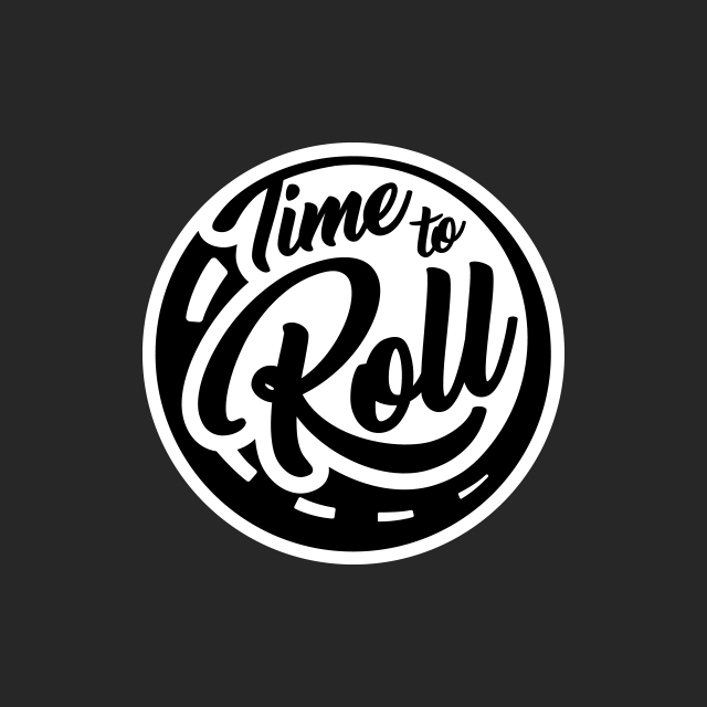 Time to Roll logo for a family on a big adventure doing a lap around Australia. Graphic Design Port Macquarie.