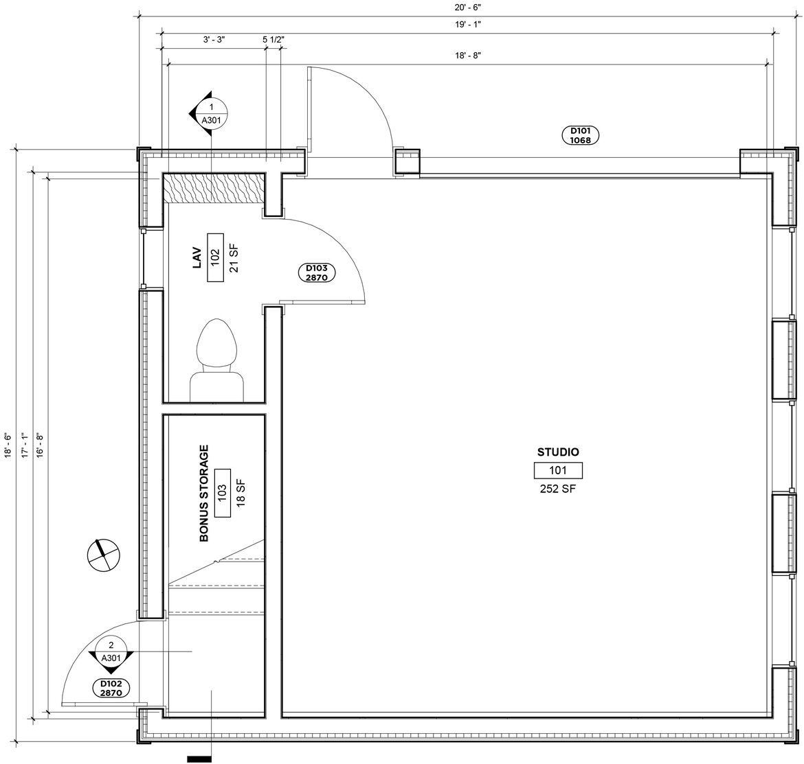 20190911 Somerville Studio 1ST FLOOR PLAN