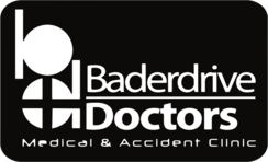 Baderdrive Doctors Black & White Logo - Footer