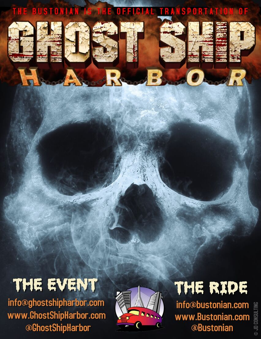 The Bustonian is the official transportation company of Ghost Ship Harbor.