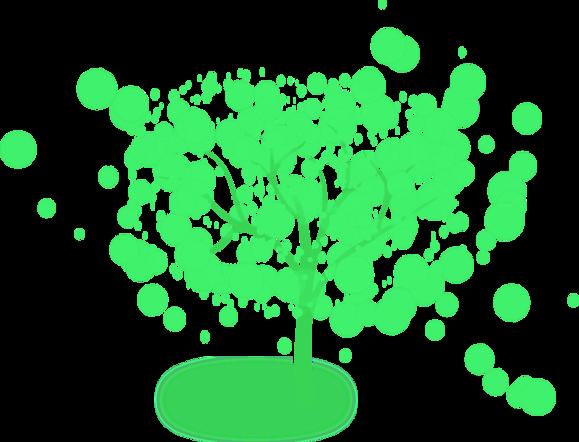 Ein Baum als Zeichen für Leben, Natur, die Äste ragen in den Himmel, die Wurzeln tief hinein in die Erde.