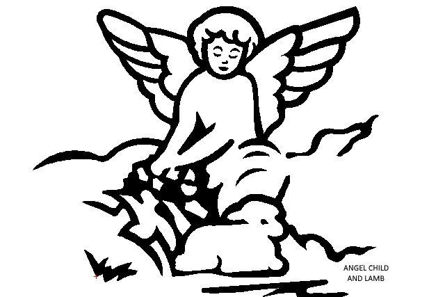 ANGEL CHILD AND LAMB