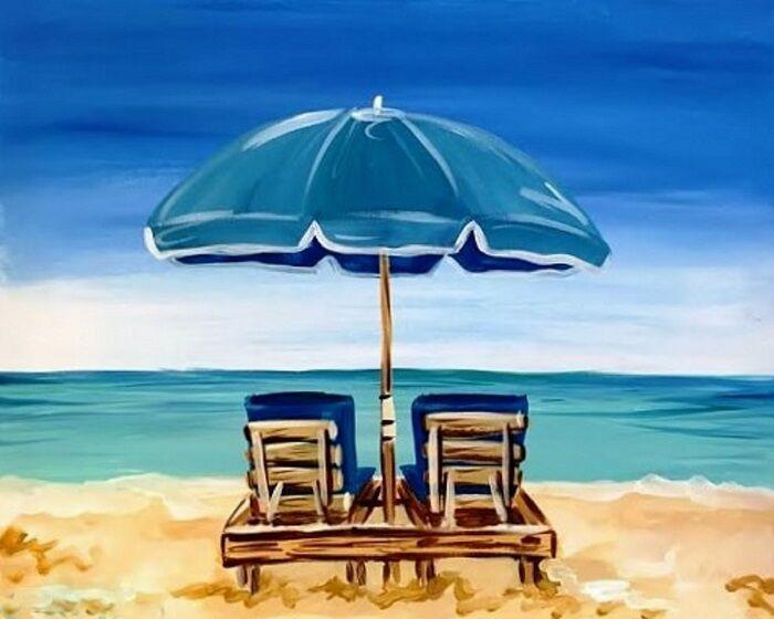 Beach Umbrella Chairs Ocean View