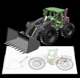 Tracteur CAO