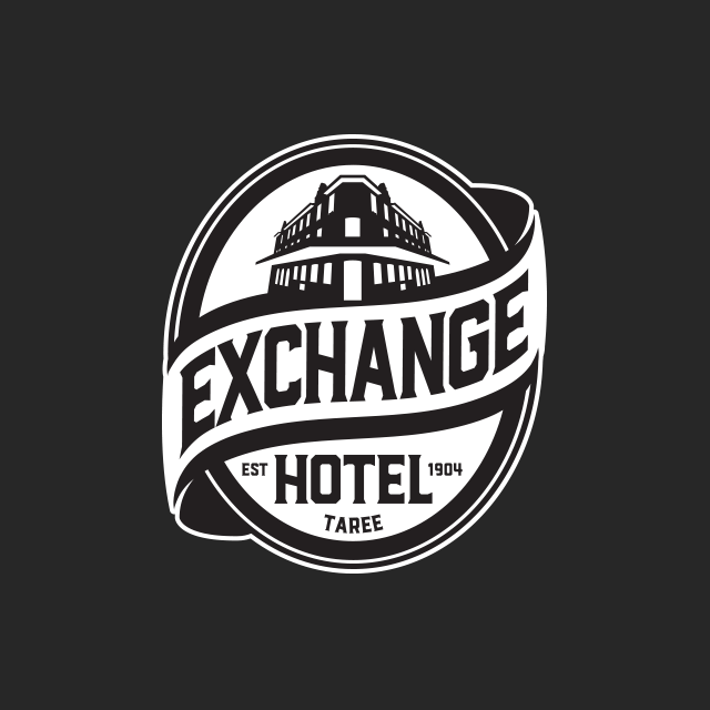 Brand design for the Exchange Hotel in Taree.