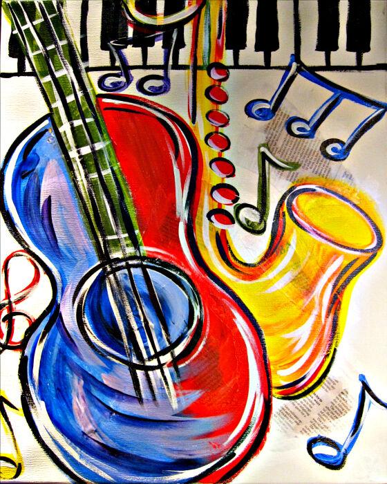 Guitar, Saxaphone, Sax, Music