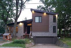 Façade d'une maison rénovée