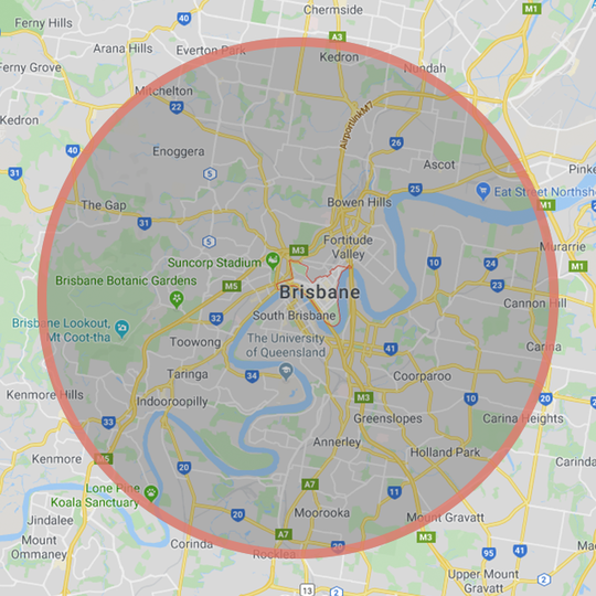 We deliver to most inner-city suburbs of Brisbane