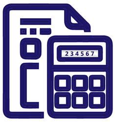 calculator and file icon