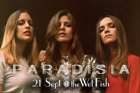 Live music dinner at The Wet Fish Cafe with ethereal pop trio PARADISIA