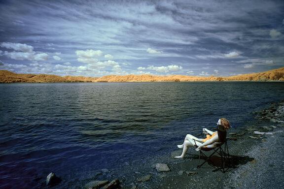 Sunbathing by Caverun Lake