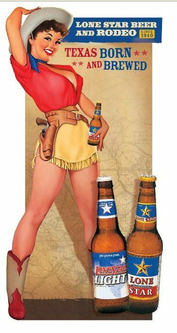 This is a midcentury beer ad for Lone Star beer from Texas