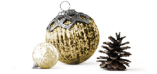 Ornaments and pinecone image