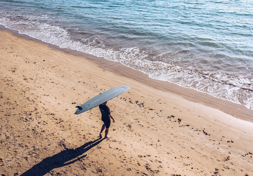 Surfer in the Gower, Wales