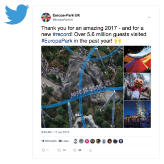 collab-ed, an award-winning international creative agency: Europa-Park Social Channels (UK & Ireland) Case Study