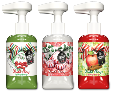 Soap Soundz Christmas hand soap