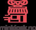 Dette er logoen til minkiosk. Logoen er en rød kiosk med hvit bakgrunn