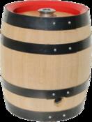 Bierfass mit einer fest eingeschäumten Edelstahlblase