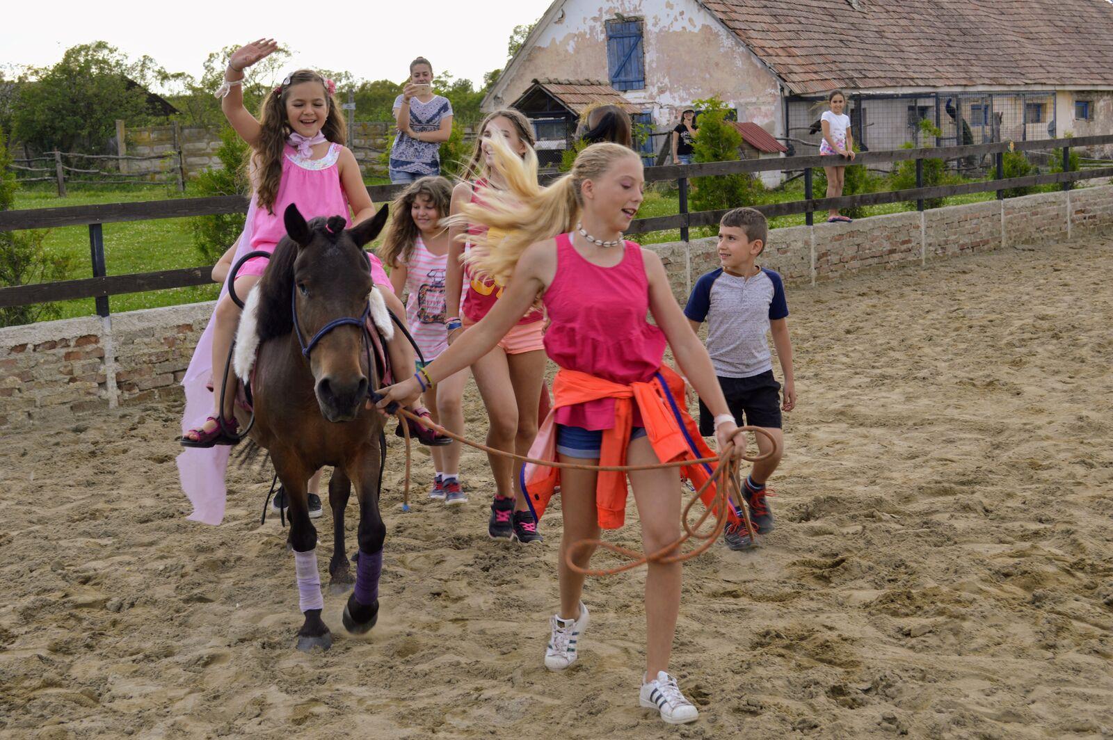 copii calarind, ponei cu copii, cai, caluti,  pony riders,