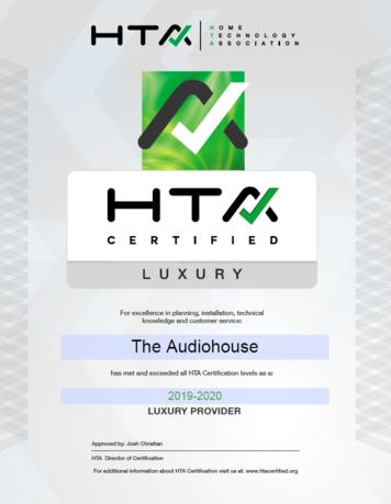 HTA Certificate
