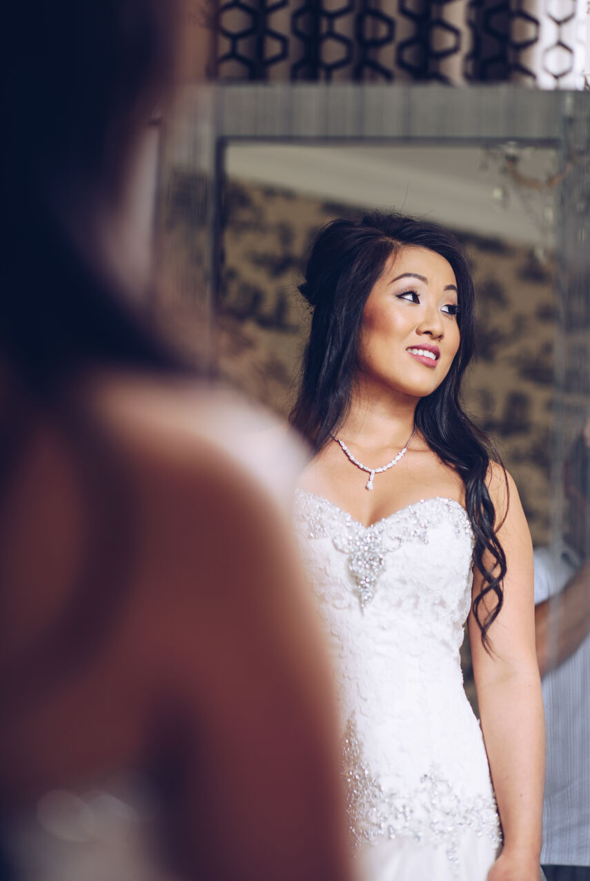 Bride portrait at a wedding venue in Bridgend. Photography by Karl Baker photography.