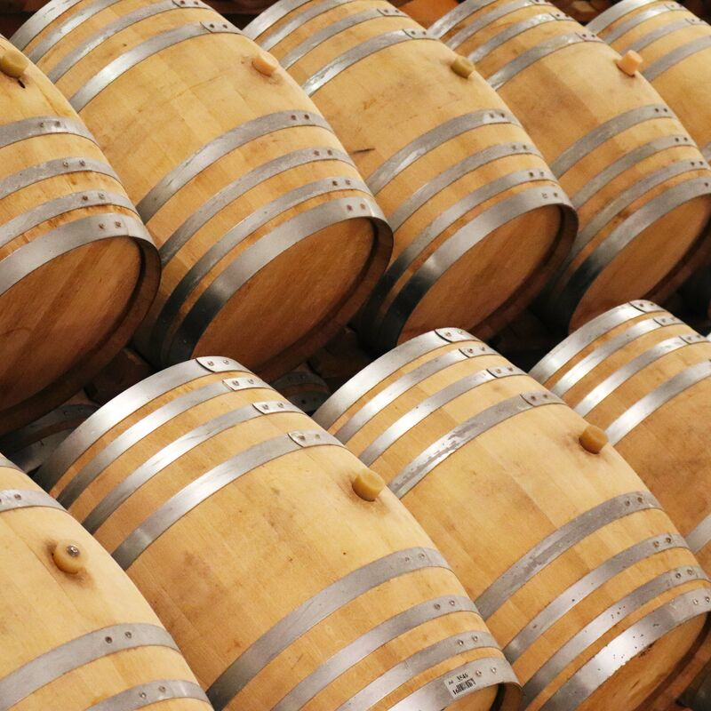 Used and freshly emptied Sauternes Casks