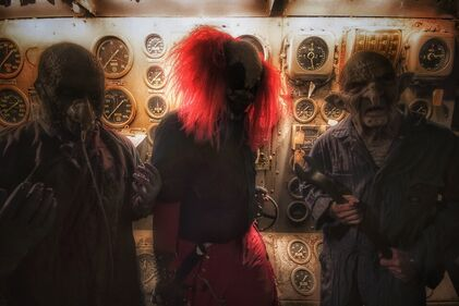 Scary characters at Ghost Ship Harbor