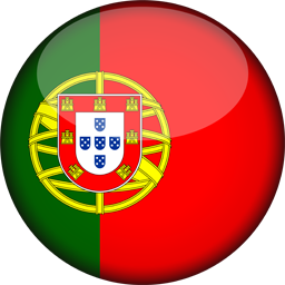 portugal flag 3d round icon 256