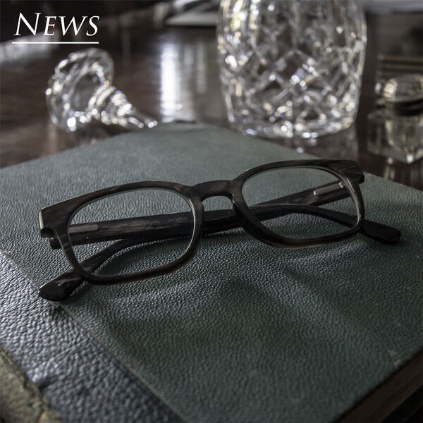 Handcrafted pair of custom horn spectacles