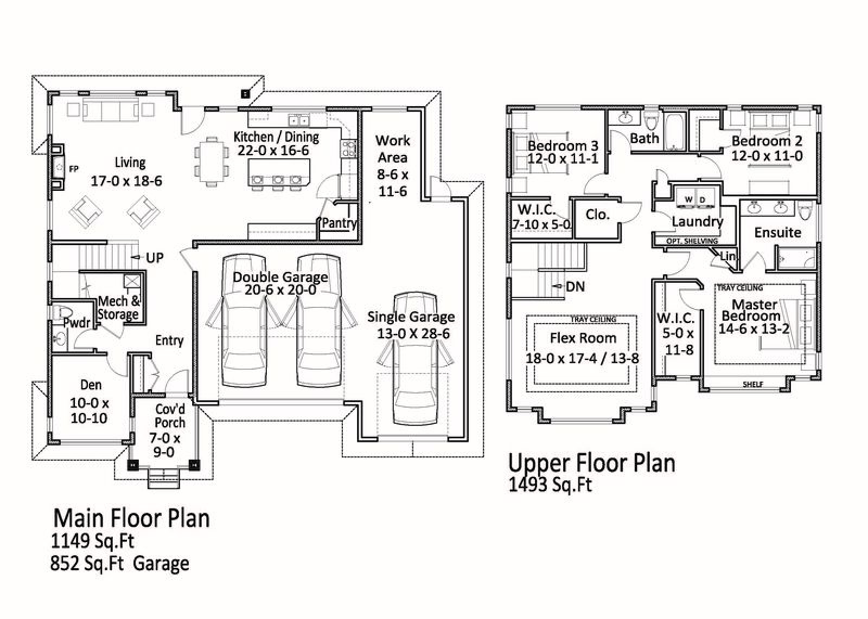 Floor Plan Main and Upper   177 Sendero Cres