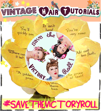 Learn how to do Victory Rolls for your hair. Save the Victory Roll!