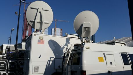 Streaming Media Live Ku Satellite Uplink Truck 2, Live L.A. Convention Center, E3 Gaming Convention