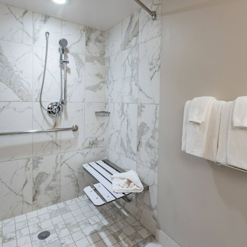 Accessible Bathroom   Roll In Shower