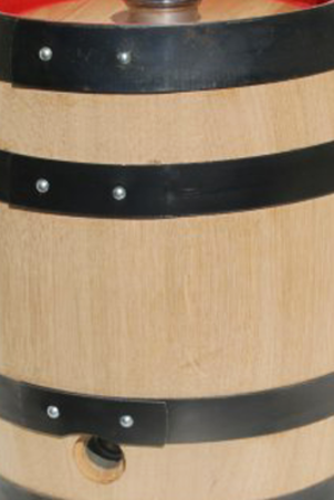Beer Barrel made of chamber-dried oak