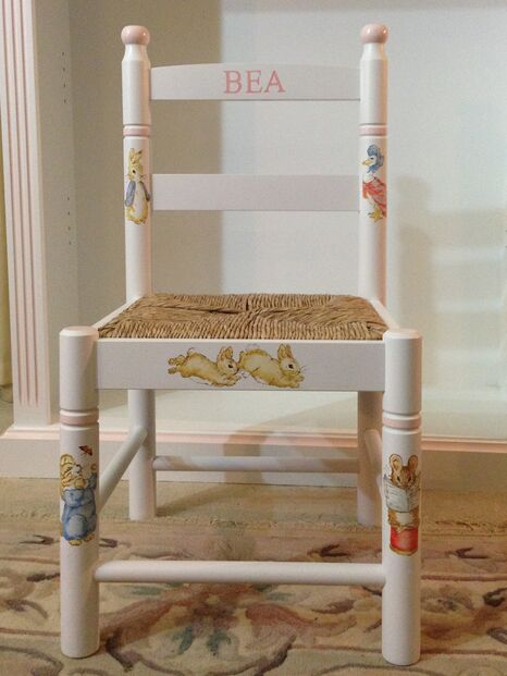 Hand painted child's small chair